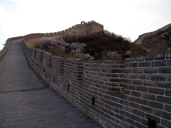 Große Mauer bei Badaling am späten Nachmittag