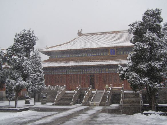The Temple of Ancient Monarchs in Fuchengmennei of Xicheng district, where past emperors were worshipped, was built during the Ming Dynasty (1368-1644). The worship of the ancestors is very important to Chineses people. In this worship the ancestors stay a part of the family.