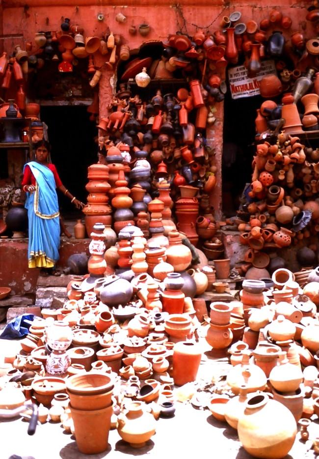 Frauen in Indien sind auch selbstbewusste Händlerinnen