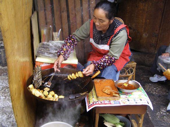 Kartoffel-Imbiss am Wegesrand