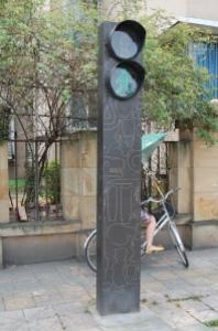 Dekorative Ampel beim Jinsha-Museum in Chengdu