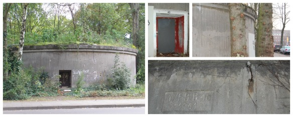 Hamburg Horn: Rundbunker - This is the entrance to a shelter, which was build during the beginning of WWII.