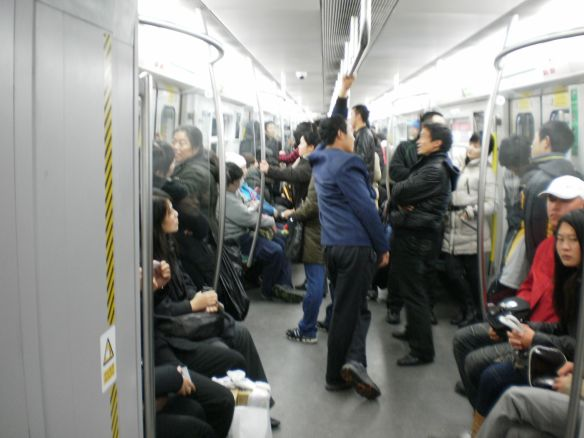 Peking: In der U-Bahn