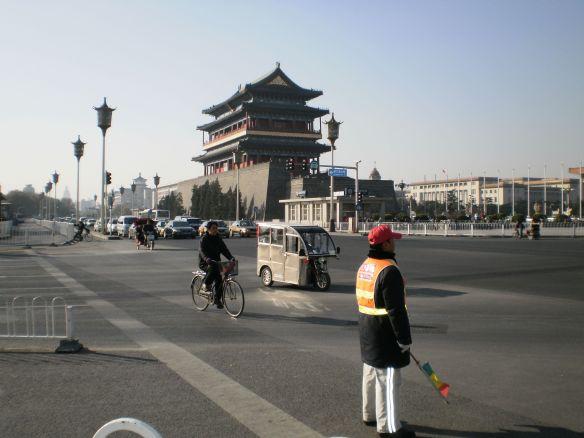 Verkehrsregler in Peking, Qianmen