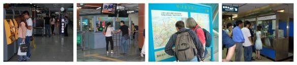 Tickets kaufen: Links Chengdu, rechts Shanghai