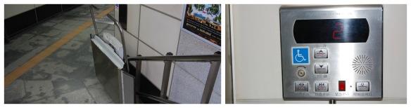 Treppenlift und Bedienungspanel in Chengdu
