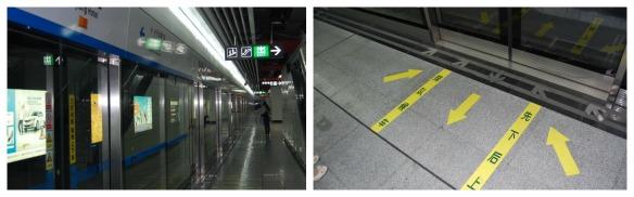 Auf dem Bahnsteig in Chengdu