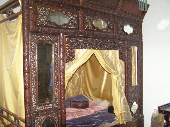 Wohnhof der Familie Gao: Bett