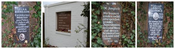 Die Gedenksteine im Rosengarten