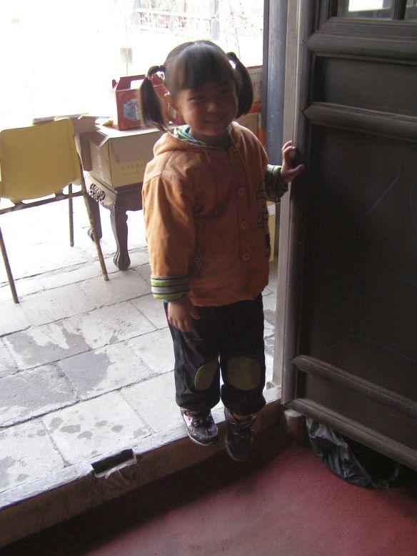 Auf der Schwelle. in einem Palast bei Pingyao