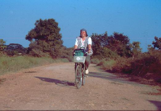 Thailand 1992 Mit dem Fahrrad unterwegs