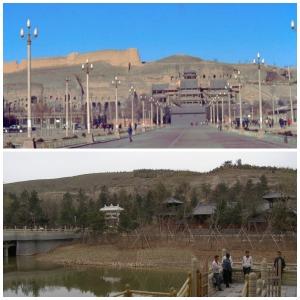 Yungan-Grotten Oben 1991 / Unten 2011