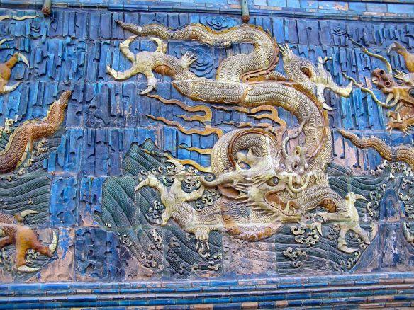 Fünf-Drachen-Wand - Detlail