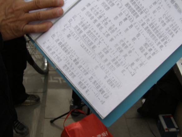 Chinesische Notenblätter