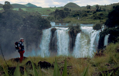 Ich am Wasserfall