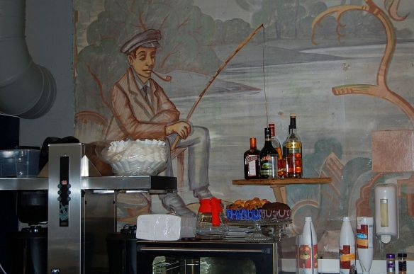 Wanddekoration im Cafe, Trelleborg