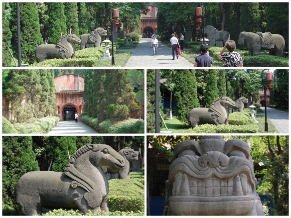Der Eingang zum Grab des Wang Jian