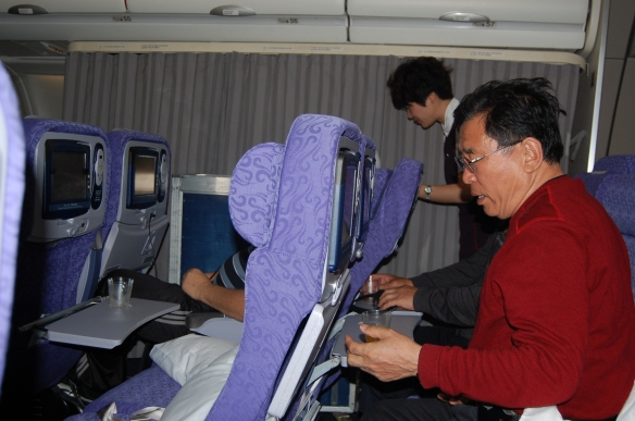 Auf dem Hinflug von Frankfurt nach Chengdu