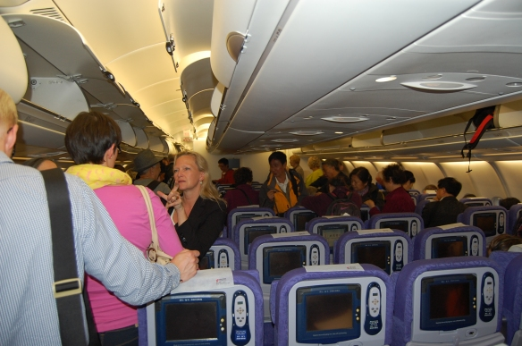 Air China im Flugzeug