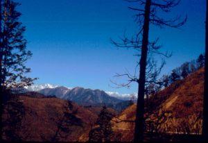 Die Berge von Jiuzhaigou
