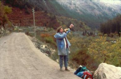 Ulrike in Jiuzhaigou 1987