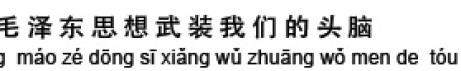 """""""Wir nutzen die Gedanken von Mao Zedong, um unseren Verstand zu schärfen"""""""