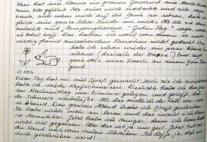 Mein Original-Tagebuch. Hatte ich damals nicht eine tolle Schrift?