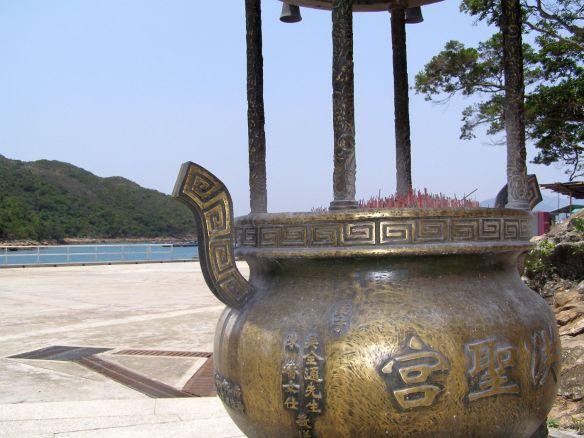 Blick vom Tempel aufs Meer